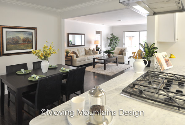 Los Angeles Home Staging Van Nuys Kitchen and Family Room