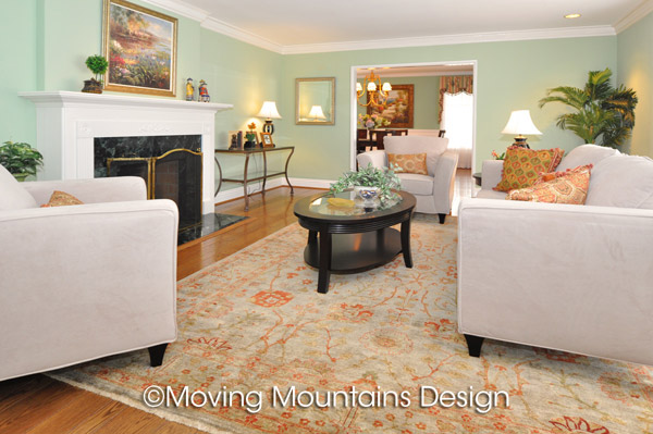 Arcadia living room real estate staging