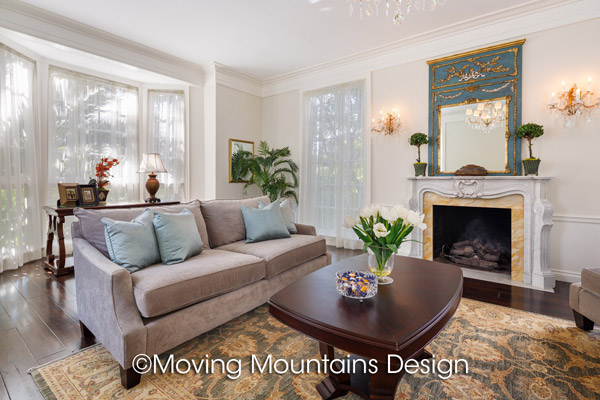 Formal Living Room Home Staging in Beverly Hills