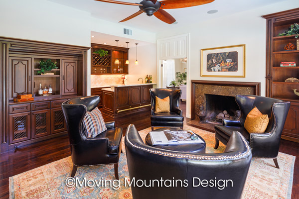 Home Staging Beverly Hills Gentleman's Den
