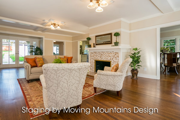 Pasadena CA Home Staging Living Room
