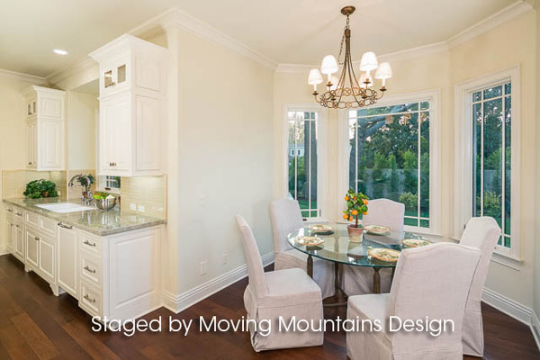 Arcadia New Construction Home Staging Kitchen Breakfast Room