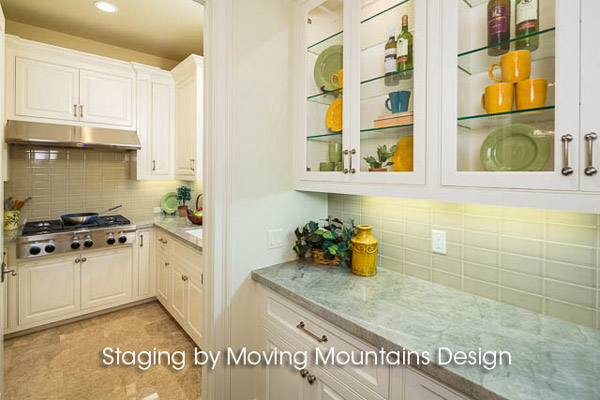 Arcadia New Construction Home Staging Butlers Pantry and Second Kitchen