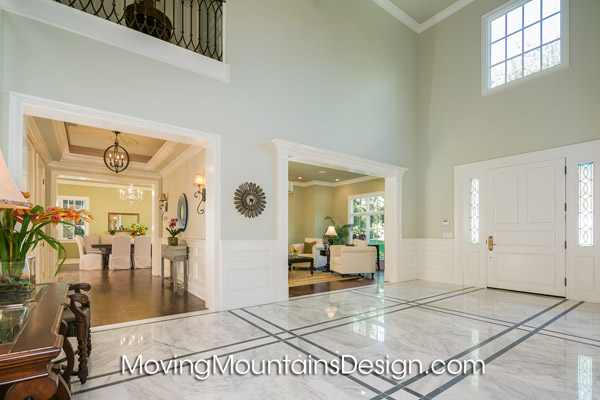 Home staging Arcadia luxury estate entry