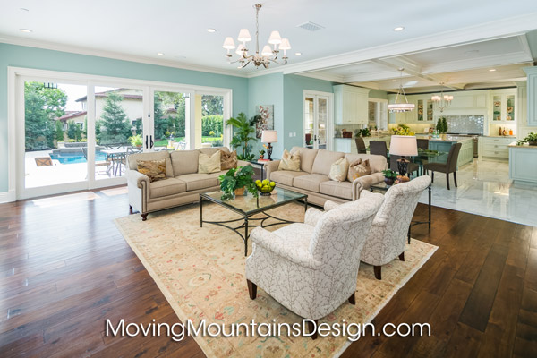 House staging Arcadia luxury estate family room
