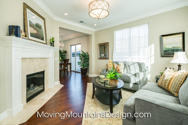 Arcadia Condo Home Staging Living Room