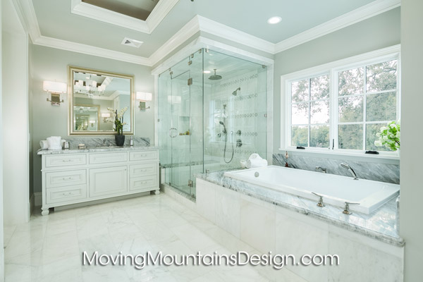 Real Estate Home staging Arcadia luxury estate Master Bathroom
