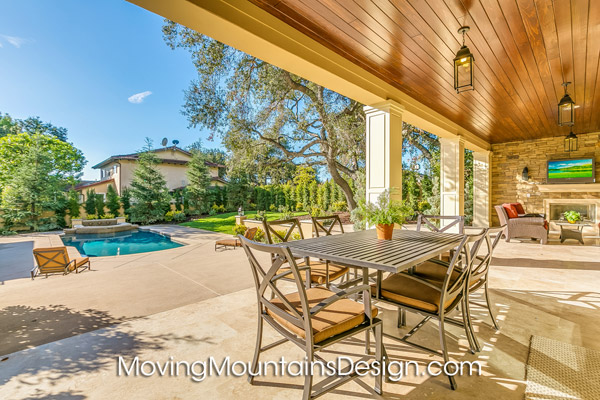 Home staging Arcadia luxury estate patio and pool area