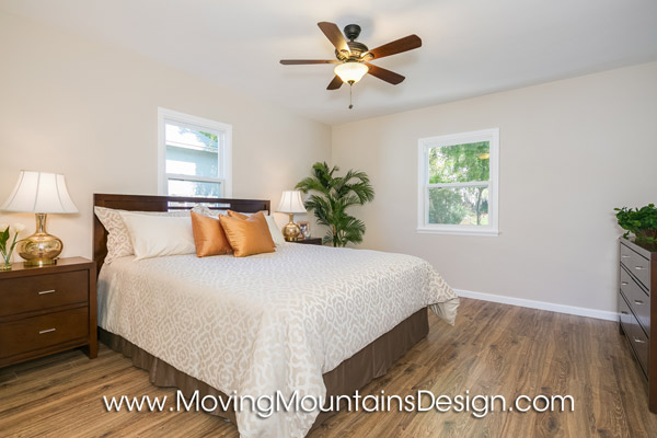 Altadena home staging bedroom