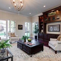 Luxury Family Room Model Home Staging in Arcadia