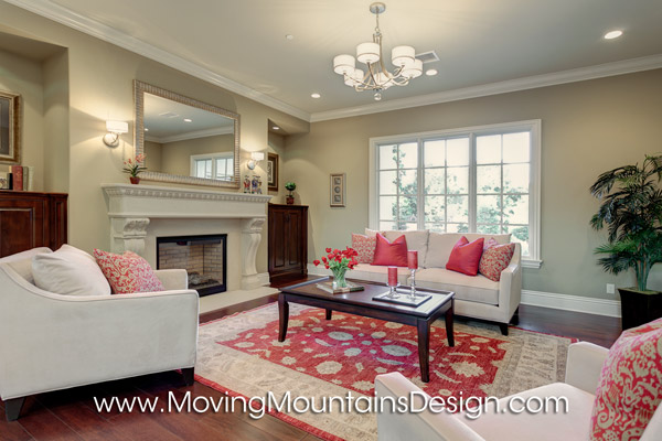 Luxury Living Room Model Home Staging in Arcadia