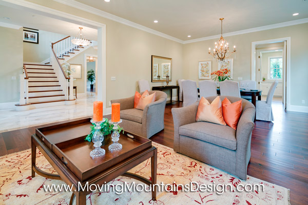Arcadia Luxury Home Staging Living Room by Moving Mountains