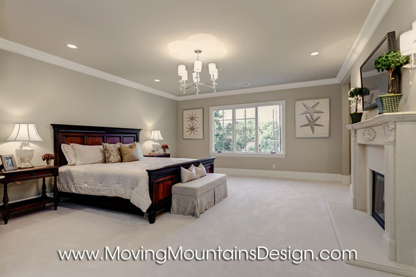 Luxury Master Bedroom Model Home Staging