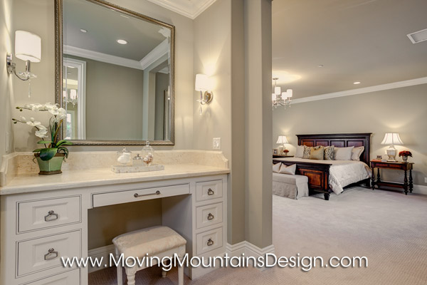 Luxury Master Bedroom Model Home Staging in Arcadia