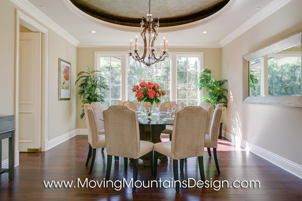 Beautiful home staging Arcadia dining room