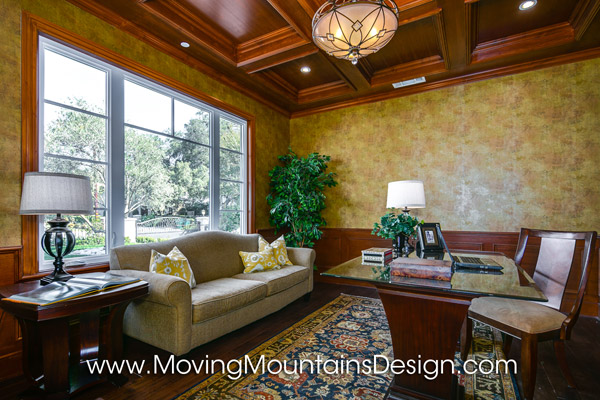 Home Office and Library Home Staging