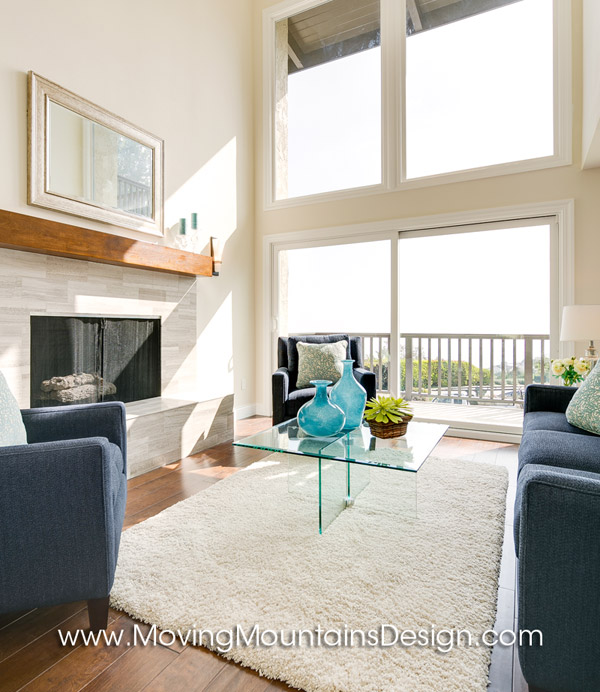 Contemporary Home Staging Living Room Details