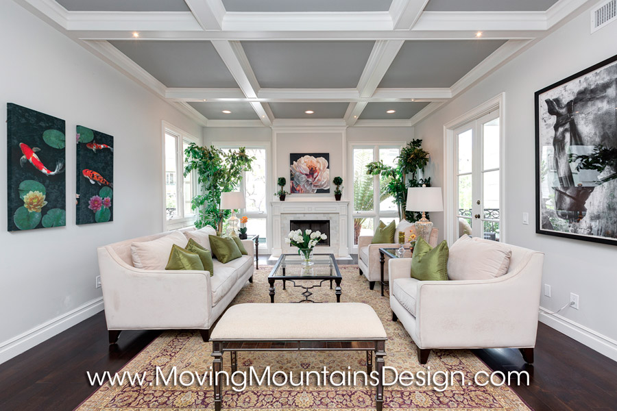 Los Angeles Luxury Condo Living Room Staging