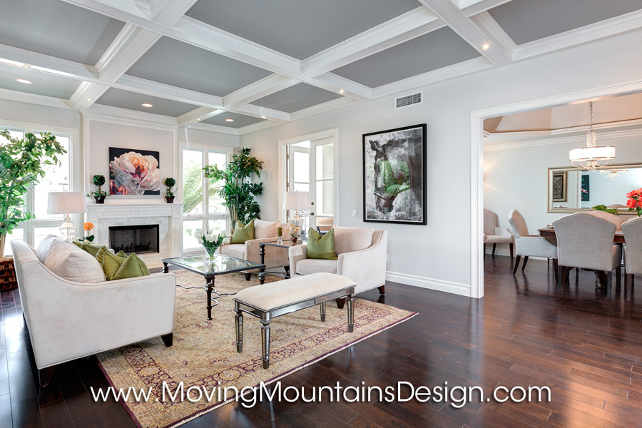 Los Angeles Luxury Condo Living Room and Dining Room Staging