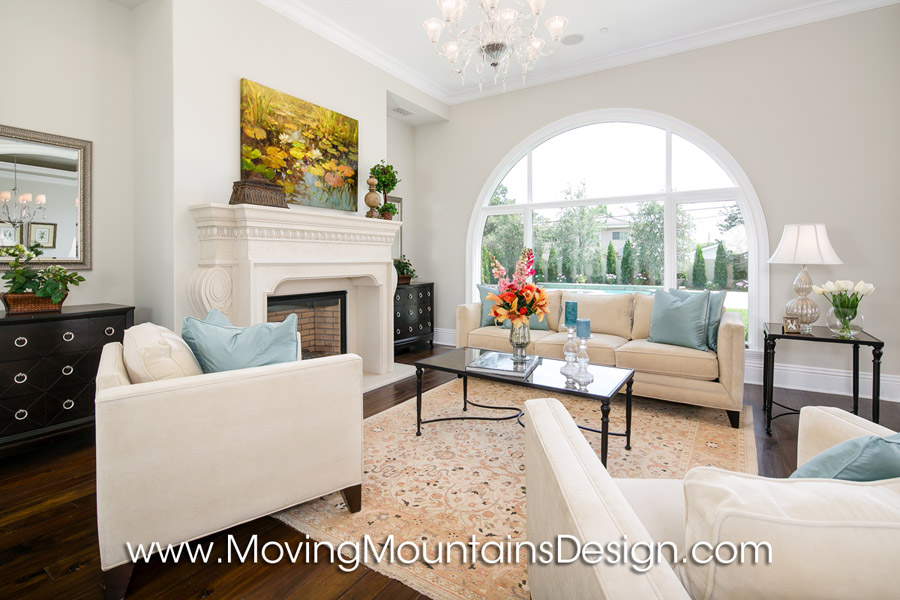Luxury living room Arcadia home staging