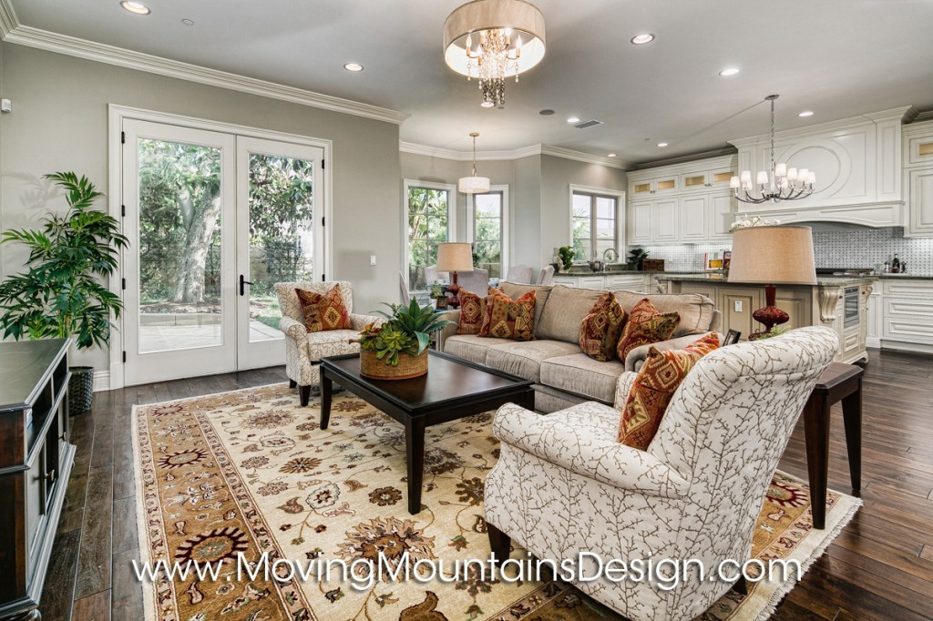 Beautiful Arcadia Home Staging Family Room