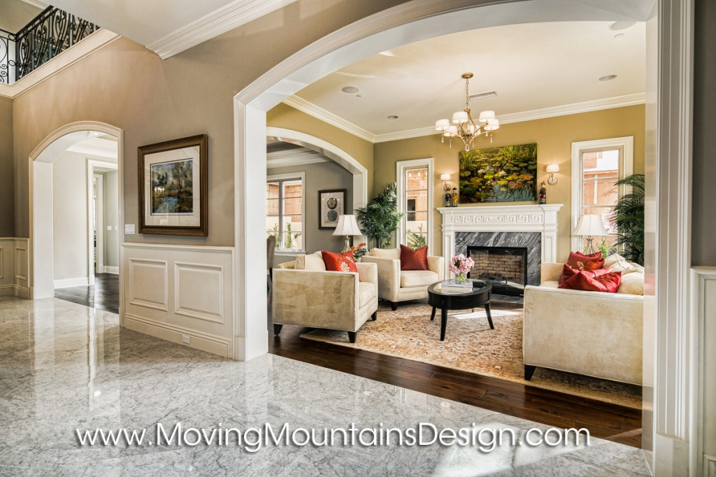 Living room Arcadia Home Staging New Construction