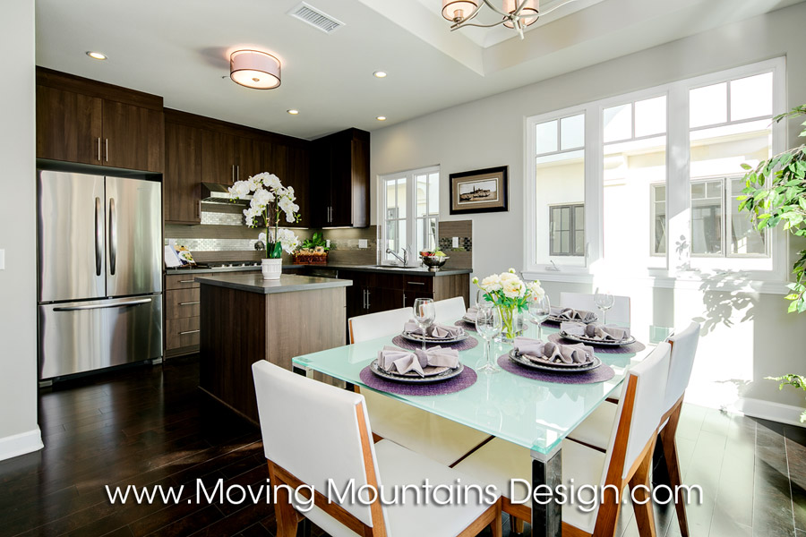 New Arcadia Townhome Model Home Staging Kitchen