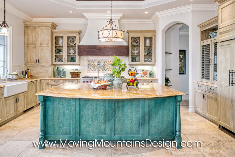 Spanish luxury home staging the kitchen