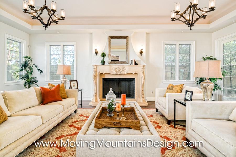 Formal living room home staging