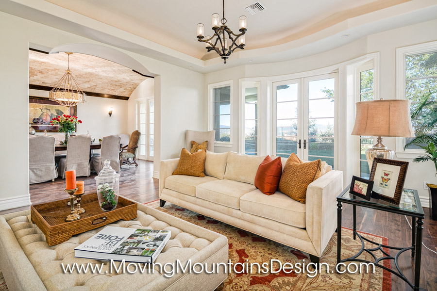 Valencia luxury home staging a formal living room