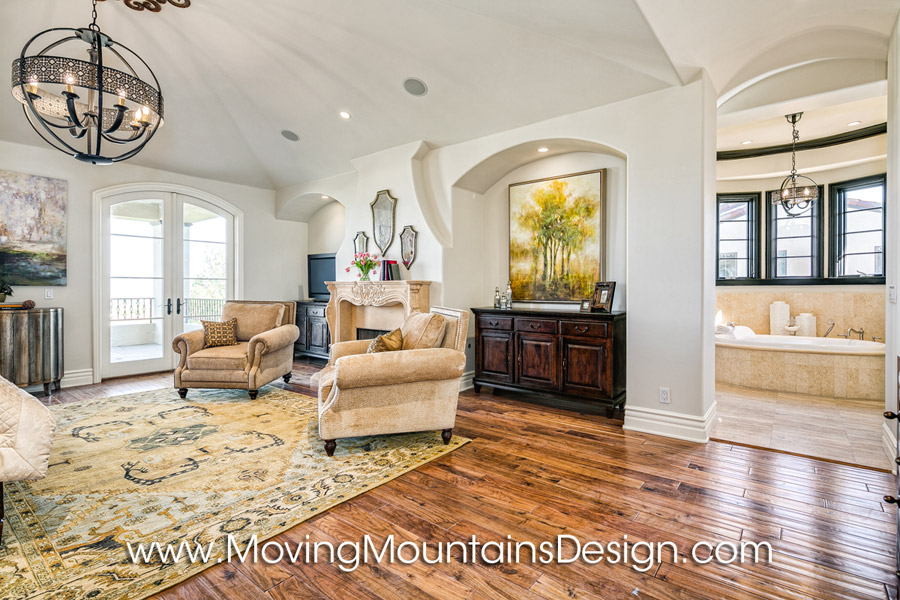 Master bedroom home staging in Valencia