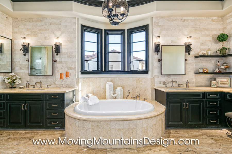 Luxury Master Bath home staging