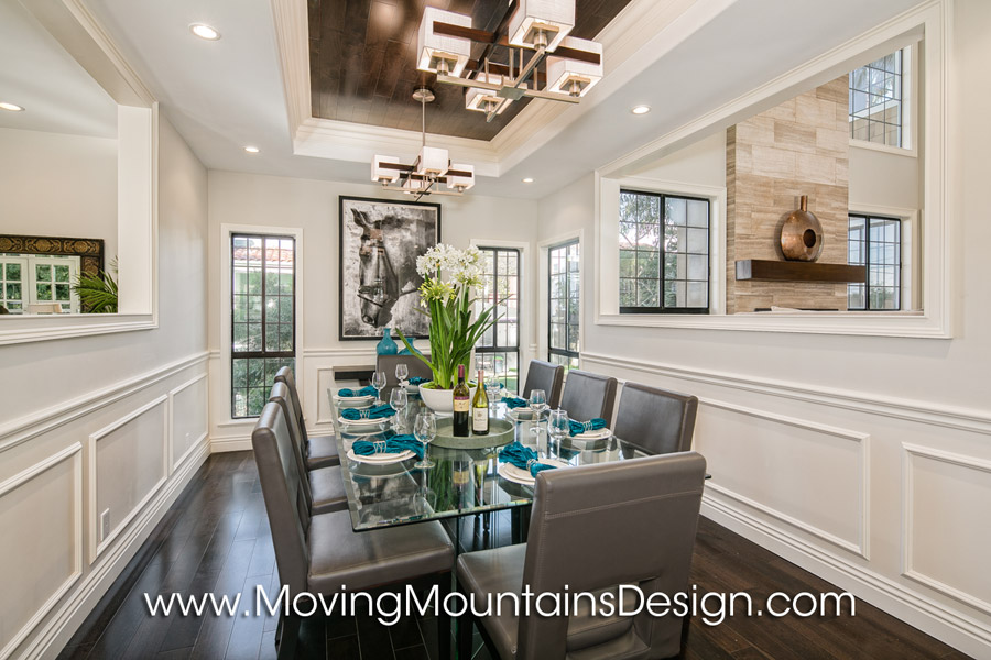 Contemporary Dining Room Staging