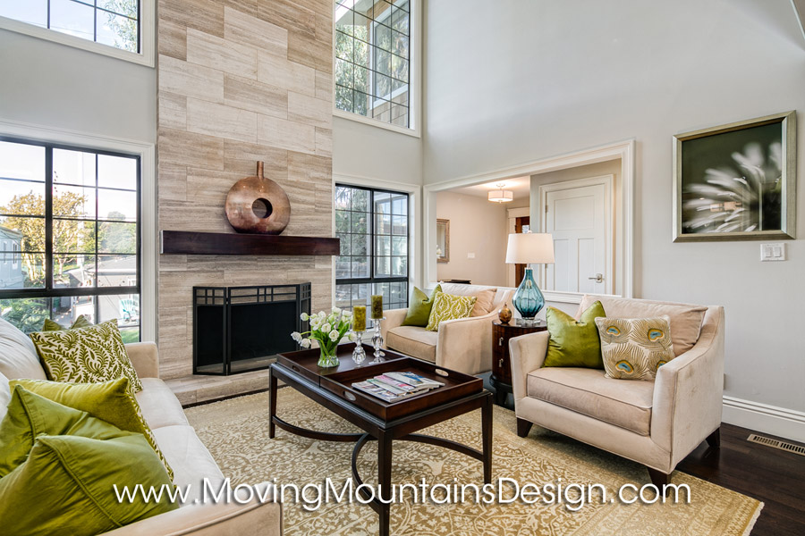 Contemporary living room home staging