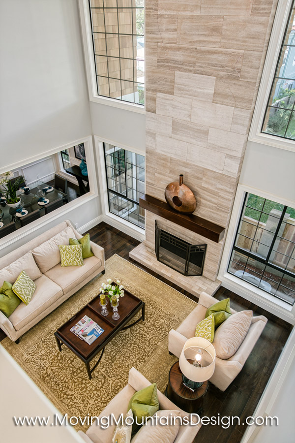 Overhead Contemporary Home Staging
