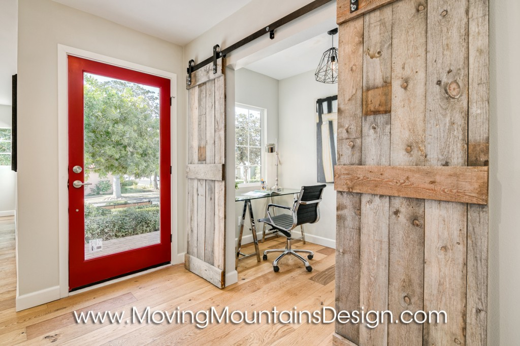Barn door office doors home staging