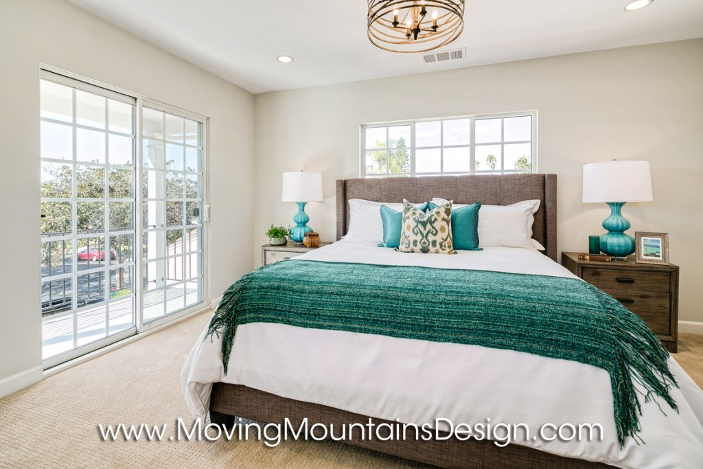 Real Estate Staging a Master Bedroom in Los Angeles