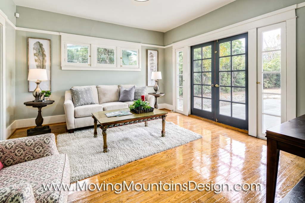 Family Room Home Staging For Investors
