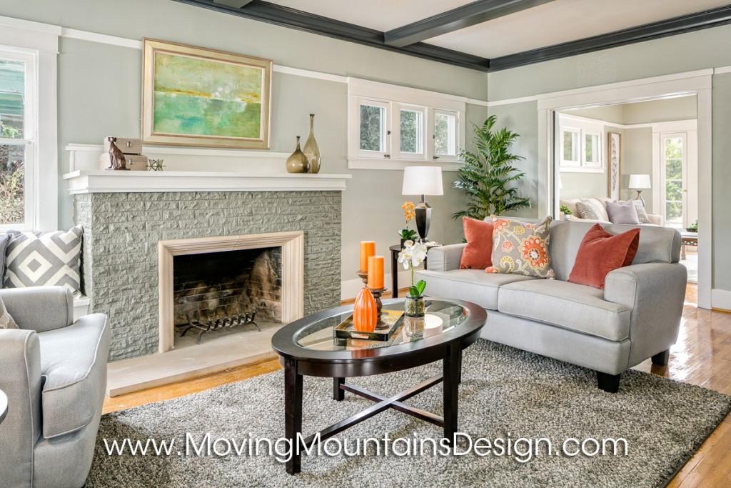Investor Staging Craftsman Living Room