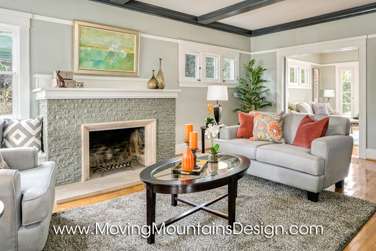 Investor Staging Craftsman Living Room