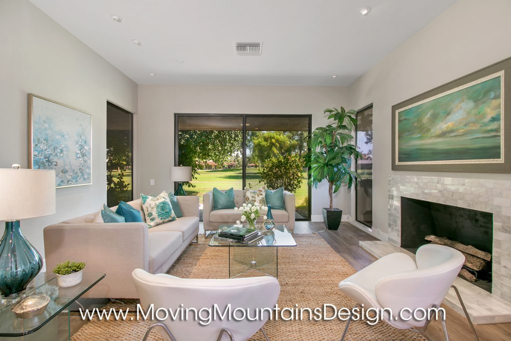 Living Room View Rancho Mirage Home Staging