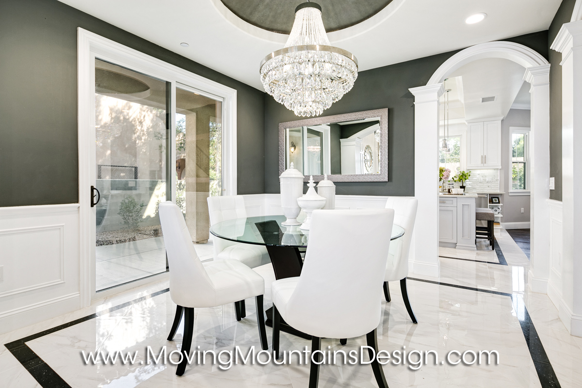 Dining Room Temple City black walls