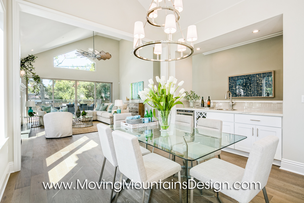 Kitchen and Family Room Home Staging in Monrovia