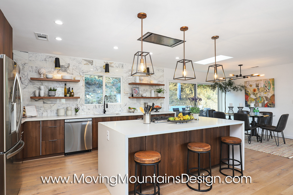 Cool kitchen in Hollywood Hills home staging project
