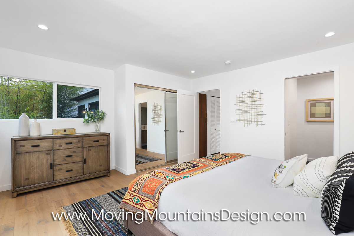 Master bedroom home staging in Hollywood Hills