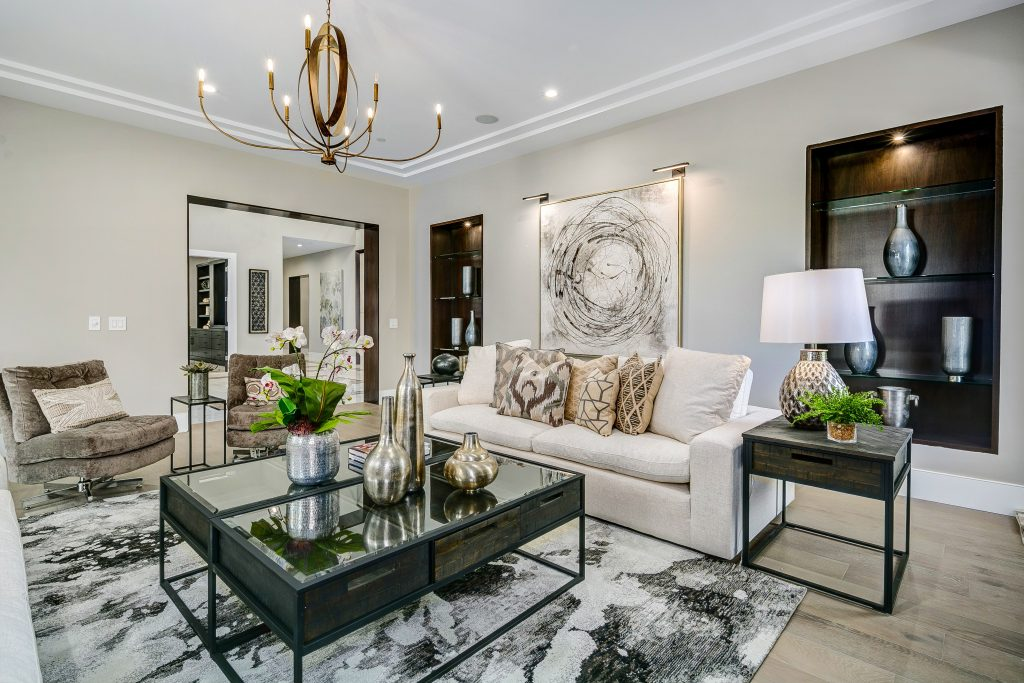 living room luxury home staging