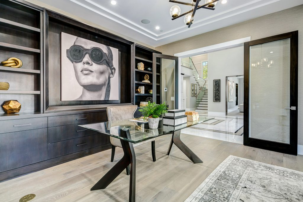 Home office luxury home staging