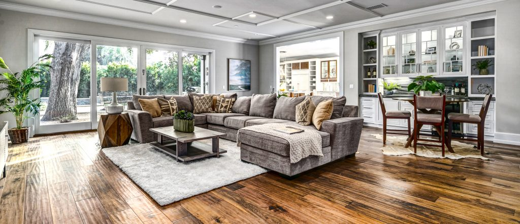 luxury home staging family room