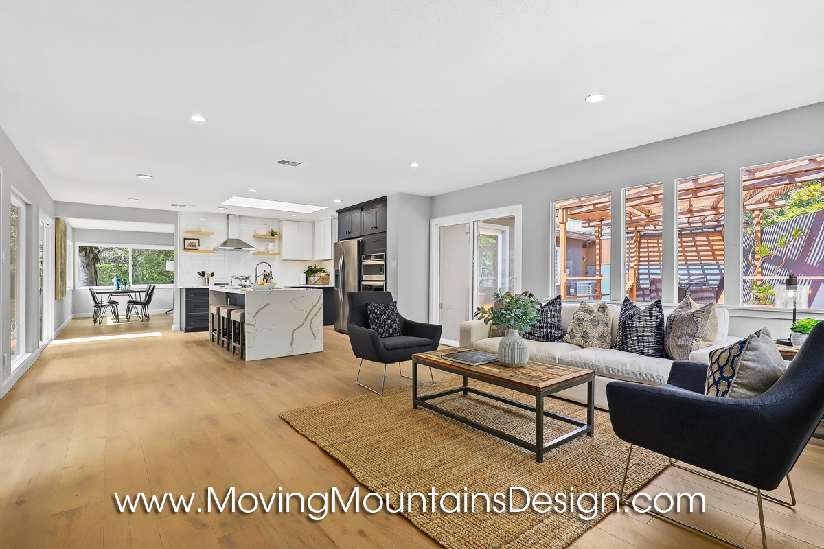 Hollywood Hills Family Room and Kitchen