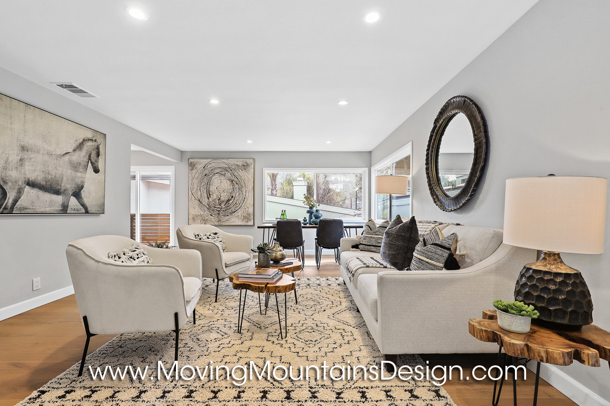 Living Room Hollywood Hills Home Staging